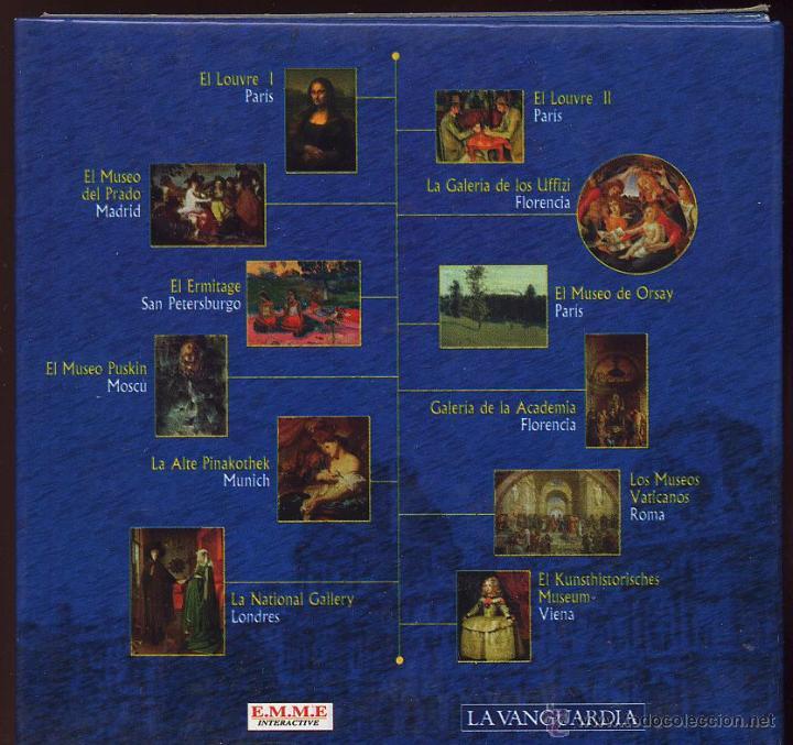Videojuegos y Consolas: 14 CDROMs coleccion LOS GRANDES MUSEOS DE EUROPA de LA VANGUARDIA - Foto 2 - 49965028