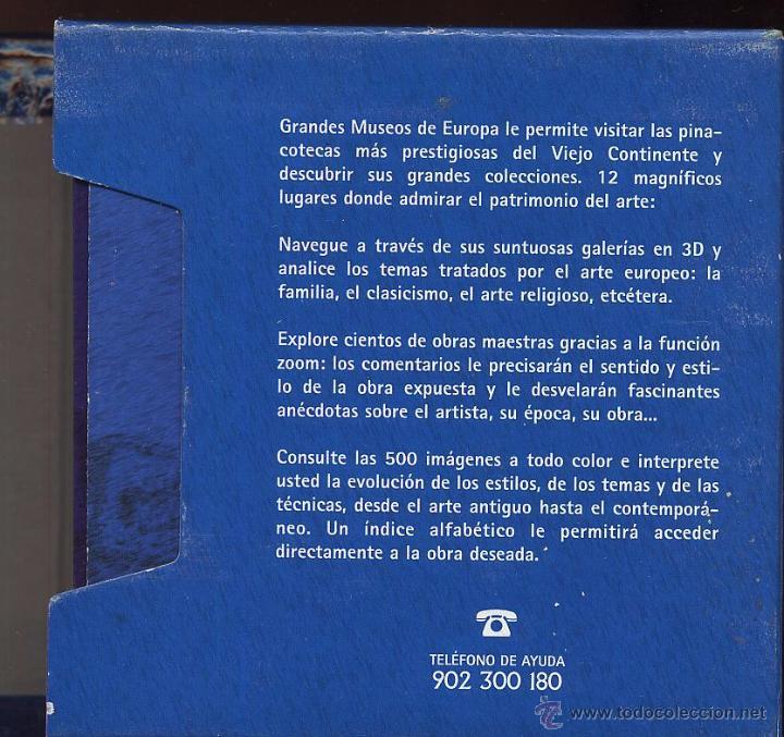 Videojuegos y Consolas: 14 CDROMs coleccion LOS GRANDES MUSEOS DE EUROPA de LA VANGUARDIA - Foto 3 - 49965028