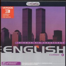 Videojuegos y Consolas: CDROM IDIOMAS SIN FRONTERAS ENGLISH CURSO 2 ---------(REF M1 E1). Lote 49965789