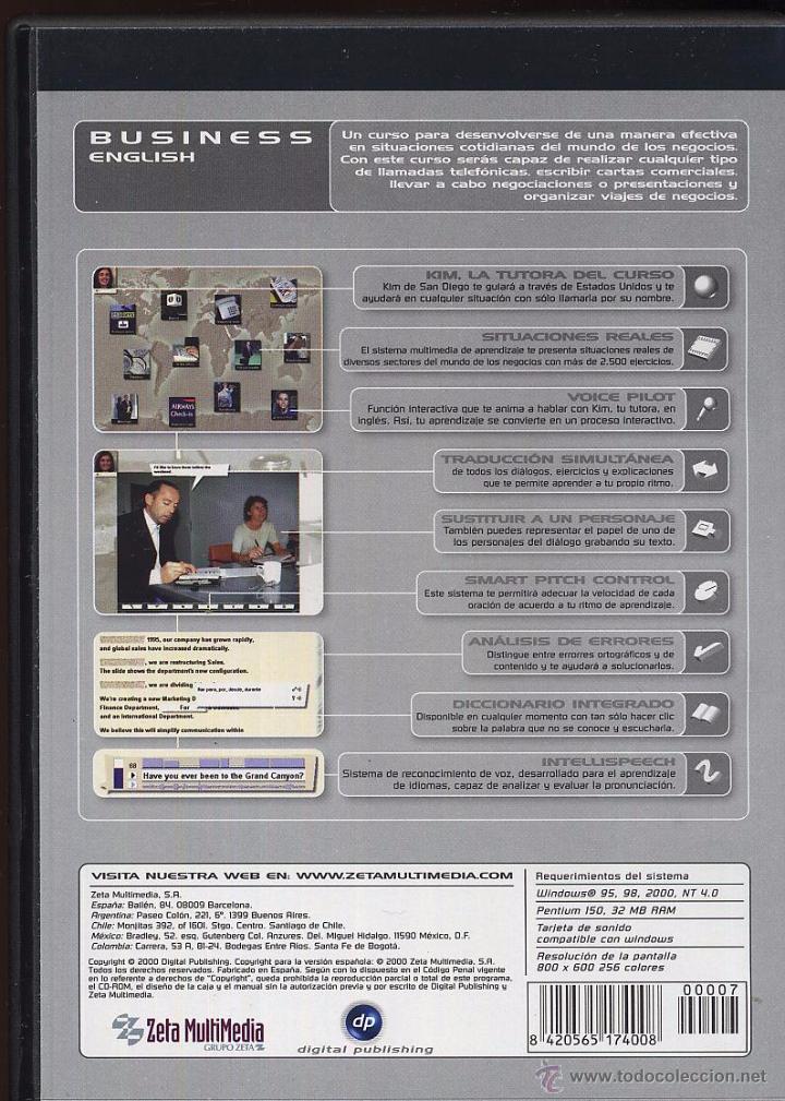 Videojuegos y Consolas: CDROM IDIOMAS SIN FRONTERAS BUSSINES ENGLISH - Foto 2 - 49965937