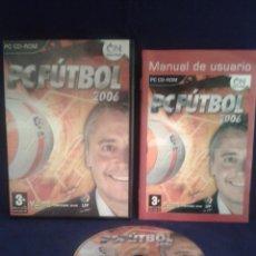 Videojuegos y Consolas: JUEGO PC FUTBOL 2006 CD ROM ESP R66. Lote 50619941