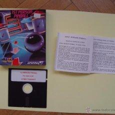 Videojuegos y Consolas: JUEGO ORDENADOR PC 5 ¼: 1ST PERSON PINBALL (TYNESOFT, 1989) VINTAGE. COMPLETO ¡ORIGINAL!. Lote 50646234
