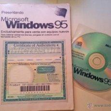Videojuegos y Consolas: WINDOWS 95 - SISTEMA OPERATIVO - CD-ROM + LICENCIA + MANUAL 90 PAGINAS. ORIGINAL CON CLAVE.. Lote 50993943