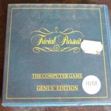 Videojuegos y Consolas: JUEGO TRIVIAL PURSUIT EN DISQUETE DE 5 1/4 COMPLETO CON CAJA Y MANUAL. Lote 51082608