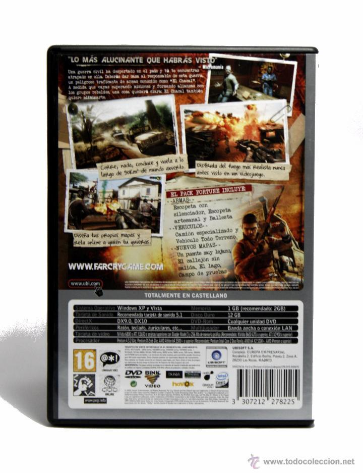 Videojuegos y Consolas: Farcry 2 Fortunes Edition / Juego Para PC / Juego En Castellano - Foto 2 - 51120679