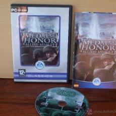 Videojuegos y Consolas: MEDAL OF HONOR - ALLIED ASSAULT - JUEGO PC MANUAL EN CASTELLANO. Lote 51528498