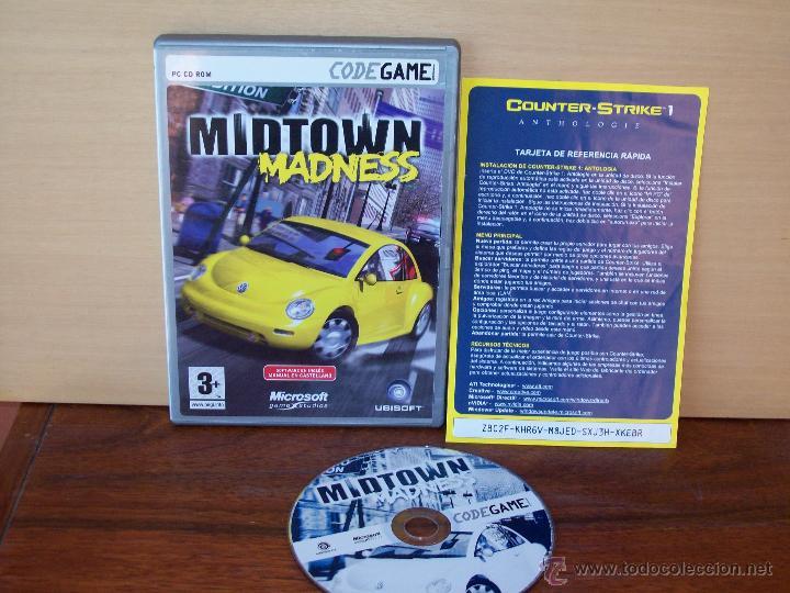 MIDTOWN MADNESS - JUEGO PC MANUAL EN CASTELLANO (Juguetes - Videojuegos y Consolas - PC)
