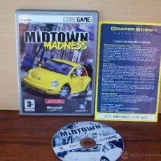 Videojuegos y Consolas: MIDTOWN MADNESS - JUEGO PC MANUAL EN CASTELLANO. Lote 51528643