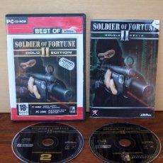 Videojuegos y Consolas: SOLDIER OF FORTUNE II - GOLD EDITION - JUEGO PC MANUAL EN CASTELLANO + SOLDIER -PAYBACK SIN CARPETA. Lote 51541073