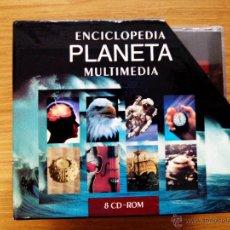 Videojuegos y Consolas: ENCICLOPEDIA PLANETA MULTIMEDIA 8 CDS. Lote 51793448