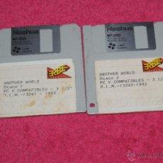 Videojuegos y Consolas: PC DISK 3,5´ ANOTHER WORLD VERSIÓN ESPAÑOLA BY ERBE 1992 SOLO DISCOS. Lote 51952815