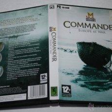 Videojuegos y Consolas: JUEGO PARA PC - COMMANDER EUROPE AT WAR, MILITARY HISTORY. Lote 52014682