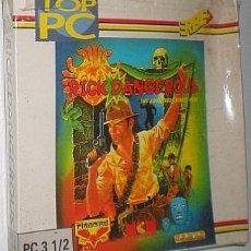 Videojuegos y Consolas: RICK DANGEROUS [CORE DESIGN / US GOLD / FIREBIRD] [1990] TOP PC [MCM/ERBE SOFWARE] [PC 3 1/2] IBM. Lote 52431773