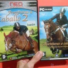 Videojuegos y Consolas: JUEGOS PARA PC AVENTURAS A CABALLO 1 Y 2. Lote 52655610