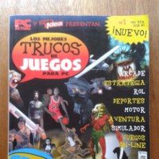 Videojuegos y Consolas: LOS MEJORES TRUCOS DE JUEGOS PARA PC, PC ACTUAL COMPUTER IDEA, 2001. Lote 52770951