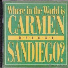 Videojuegos y Consolas: CD-ROM. WHERE IN THE WORLD IS CARMEN SANDIEGO? DE LUXE.. Lote 53727207
