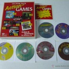 Videojuegos y Consolas: PACK ACTION GAMES / JUEGO PC / CAJA GRANDE DE CARTÓN / RETRO / VINTAGE / MS-DOS Ó WINDOWS. Lote 54392250