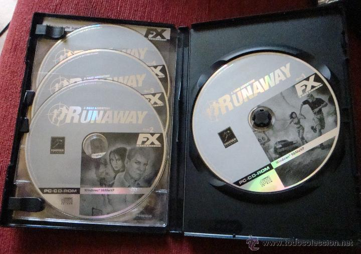 Runaway Premium a road adventure FX interactive PC CD-ROM Windows 98/Me/XP  4 CD español