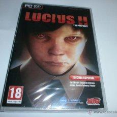 Videojuegos y Consolas: LUCIUS 2 THE PROPHECY EDICION ESPECIAL PARA PC NUEVO Y PRECINTADO. Lote 195341501