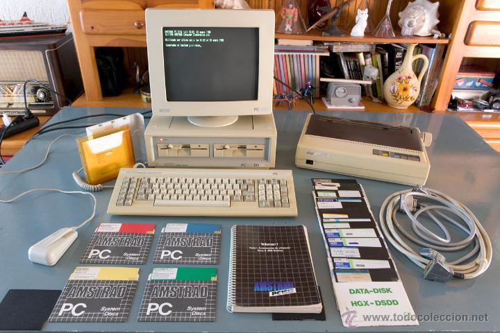 ANTIGUO AMSTRAD PC1512 DD MAS IMPRESORA, DISCOS FLEXIBLES E INSTRUCCIONES (Juguetes - Videojuegos y Consolas - PC)