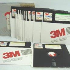 Videojuegos y Consolas: LOTE 18 DISQUETTE S 5.25 PULGADAS-CUARTO 1/4 -3M - VIRGENES-FLOPPY-DISQUETE DISCO DISQUET Y UN. Lote 56394075