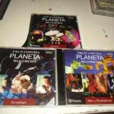 Videojuegos y Consolas: CD ROM ENCICLOPEDIA PLANETA MULTIMEDIA 2003 3 CD TECNOLOGIA CIENCIA Y ARTE Y PENSAMIENTO. Lote 57276707