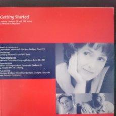 Videojuegos y Consolas: INSTRUCCIONES DE ANTIGUO ORDENADOR SOBREMESA COMPAQ AÑOS 90 ----- REFM1E2. Lote 57580250
