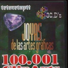 Videojuegos y Consolas: 100.001 CLIP ARTS - 3 CDS - MAS SONIDOS ANIMACION VIDEO Y RECURSOS PARA INTERNET. Lote 57583764