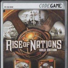 Videogiochi e Consoli: RISE OF NATIONS. GOLD EDITION. 2 CD-ROM + MANUAL. VIDJUEG-162. Lote 57603864