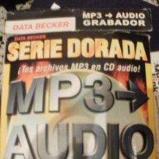 Videojuegos y Consolas: SERIE DORADA MP3 AUDIO GRABADOR TUS ARCHIVOS MP3 EN CD AUDIO --REFM1E2. Lote 57926647