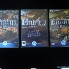Videojuegos y Consolas: BATTLEFIELD 1942 + DISCOS EXPANSION. Lote 58299694