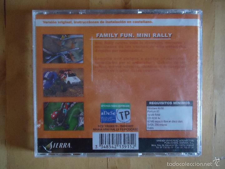 Videojuegos y Consolas: JUEGO PC FAMILY FUN MINI RALLY VIVENDI UNIVERSAL INTERACTIVE SIERRA 2001 SIMULADOR CARRERAS COCHES - Foto 3 - 217615741