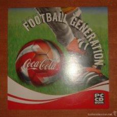 Videojuegos y Consolas: JUEGO FOOTBALL GENERATION COCA COLA. . Lote 128159192