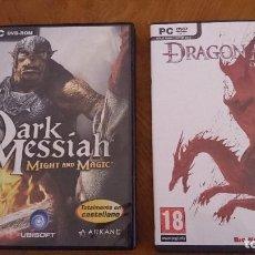 Videojuegos y Consolas: DARK MESIAHH Y DRAGON AGE. Lote 62451244