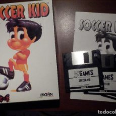 Videojuegos y Consolas: JUEGO - ORDENADOR - PC - DISCOS 3 1/2 PULGADAS - SOCCER KID - FLAIR SOFTWARE - EN SU CAJA. Lote 63362152