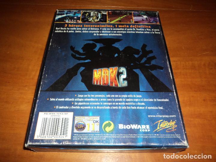 Videojuegos y Consolas: MDK 2 - PC - CAJA DE CARTON GRANDE - ¡¡NUEVO Y PRECINTADO (JUEGO Y MANUAL)!! - Foto 6 - 24583174