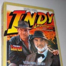 Videojuegos y Consolas: INDIANA JONES Y LA ÚLTIMA CRUZADA [LUCASARTS] 1989/1994 INDY ERBE SOFTWARE [PC 3 1/2] MAXIJUEGOS Nº1. Lote 65989310