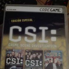 Videojuegos y Consolas: CSI EDICION ESPECIAL-JUEGO PC-VENTA MINIMA 6 EU. Lote 68239313