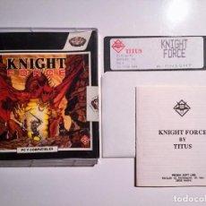 Videojuegos y Consolas: KNIGHT FORCE (TITUS SOFTWARE) JUEGO PC DISKETTE 5 1/4. Lote 69417321