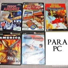 Videojuegos y Consolas: 5 JUEGOS ORIGINALES PARA PC. Lote 70161497