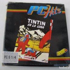 Videojuegos y Consolas: TINTIN EN LA LUNA - ANTIGUO JUEGO PARA PC - PC HITS - ERBE - PC 5 1/4 - AÑO 1991.. Lote 73300707