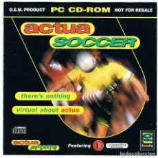 Videojuegos y Consolas: ACTUA SOCCER. JUEGO PC. Lote 74989187