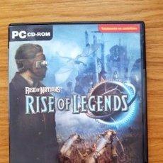 Videojuegos y Consolas: JUEGO PC: RISE OF LEGENDS (RISE OF NATIONS II) - VERSIÓN EN CASTELLANO. Lote 76006623