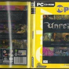 Videojuegos y Consolas: JUEGO PC CD ROM UNREAL. Lote 76142947