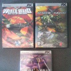 Videojuegos y Consolas: WORLD WAR II BATTLE OF BRITAIN, APACHE HAVOC, REAL WAR REBELIÓN EN RUSIA.. Lote 77158929