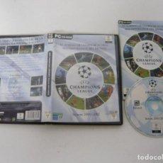 Videojuegos y Consolas: UEFA CHAMPIONS LEAGUE 01-02 / JUEGO PC ORDENADOR / CAJA DVD / RETRO. Lote 79888881