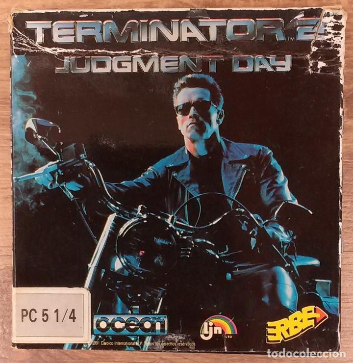 TERMINATOR 2 - PC 5 1/4 3 DISCOS COMPLETO CON INSTRUCCIONES Y TRUCOS. (Juguetes - Videojuegos y Consolas - PC)