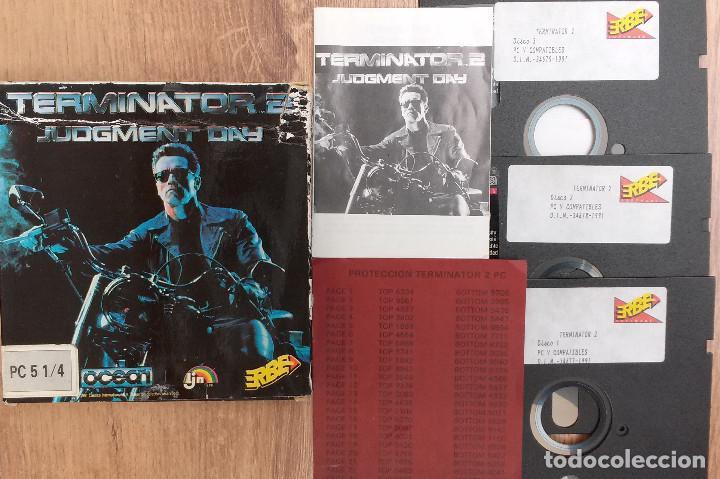 Videojuegos y Consolas: TERMINATOR 2 - PC 5 1/4 3 DISCOS Completo con instrucciones y trucos. - Foto 2 - 80947752