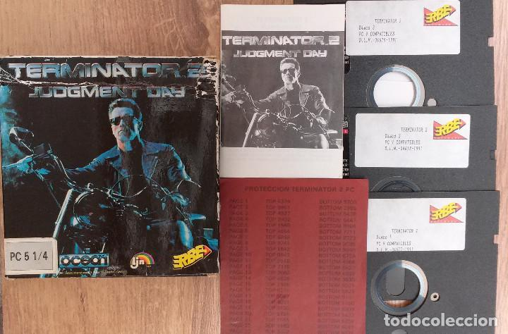 Videojuegos y Consolas: TERMINATOR 2 - PC 5 1/4 3 DISCOS Completo con instrucciones y trucos. - Foto 3 - 80947752