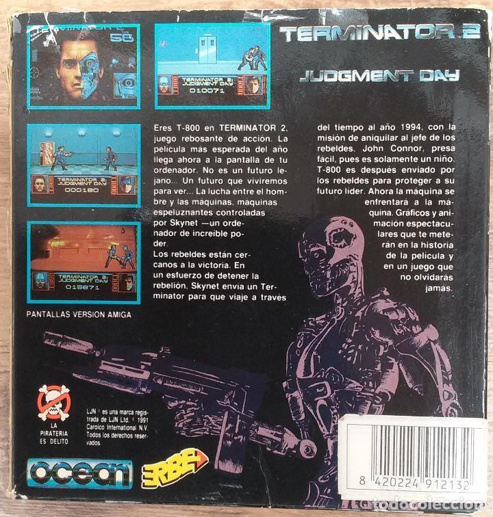 Videojuegos y Consolas: TERMINATOR 2 - PC 5 1/4 3 DISCOS Completo con instrucciones y trucos. - Foto 4 - 80947752
